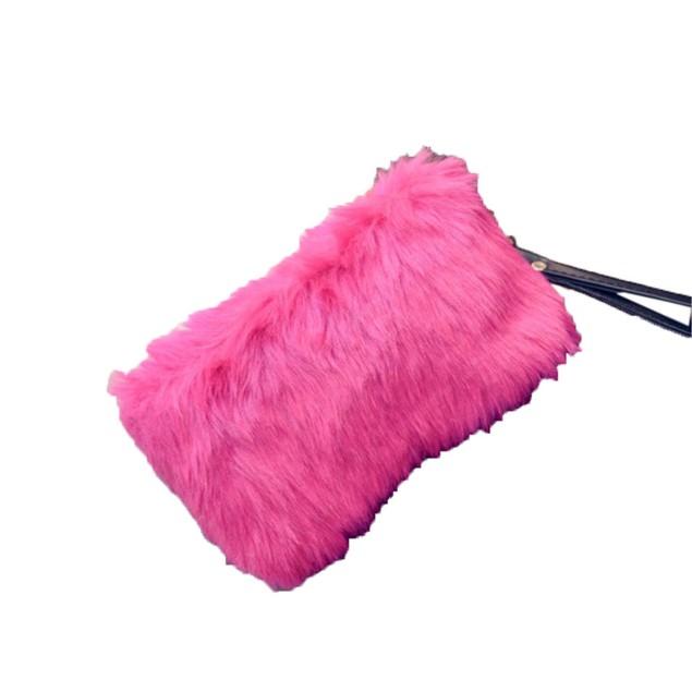 Women Handbag Plush Crossbody Shoulder Bag Tote Bag Wallet