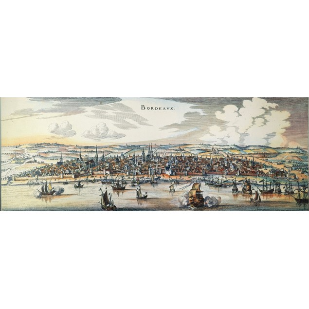 View Of Bordeaux, 1644. /Nline Engraving, 1644, By Matthaus Merian. Poster