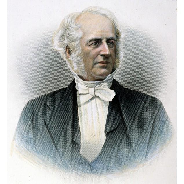 Cornelius Vanderbilt /N(1794-1877). American Financier. Color Engraving, 19