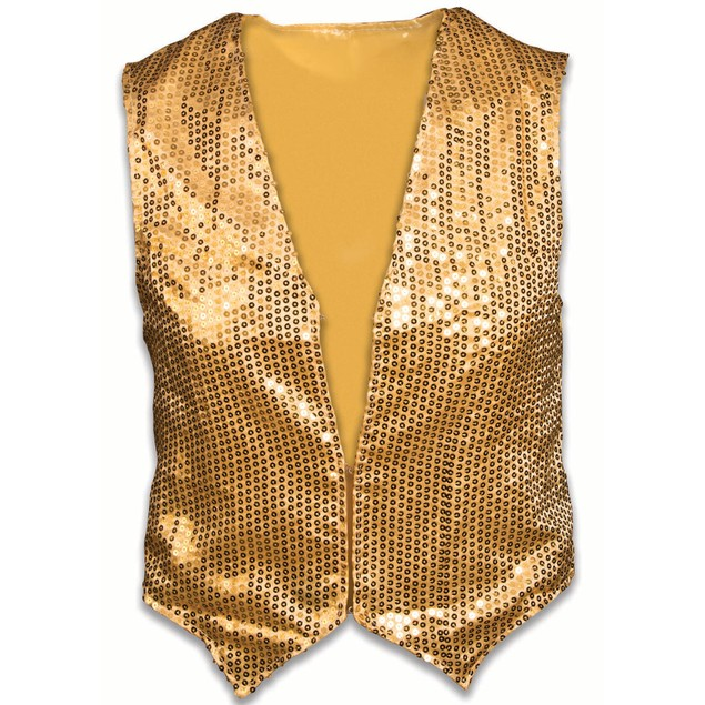 Child Gold Sequin Vest