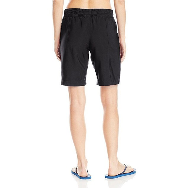 JAG Women's Solid Long Boardshort, Black, SZ M