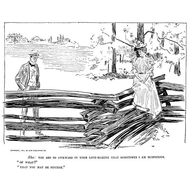 Gibson: Romance, 1901. /Ncharles Dana Gibson (1867-1944). American Illustra
