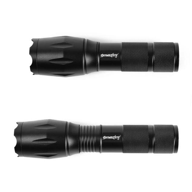 SKYWOLFEYE Tactical Flashlight LED Zoom Military Torch
