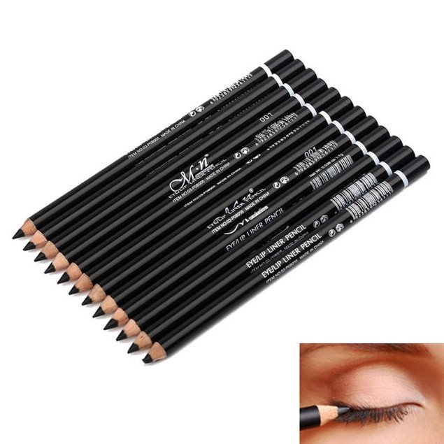12 Colors Eye Make Up Eyeliner Pencil Waterproof Eyebrow Pen