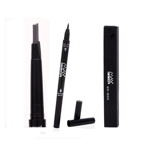 2 in 1 Waterproof Longlasting Eye Liner Eyebrow Eye Brow Pencil