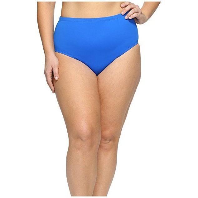 LAUREN Ralph Lauren Women's Plus Size Beach Club Hipster Bottom Blue SZ 18W