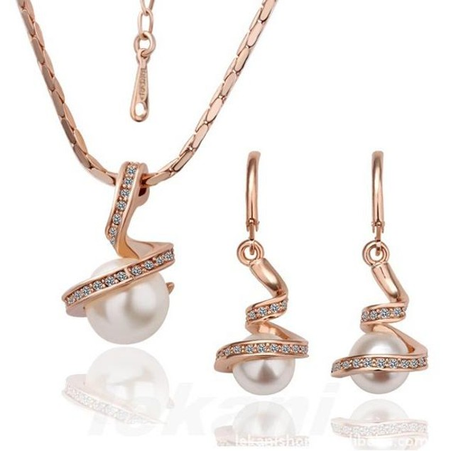 Swirl Pearl Jewelry Set