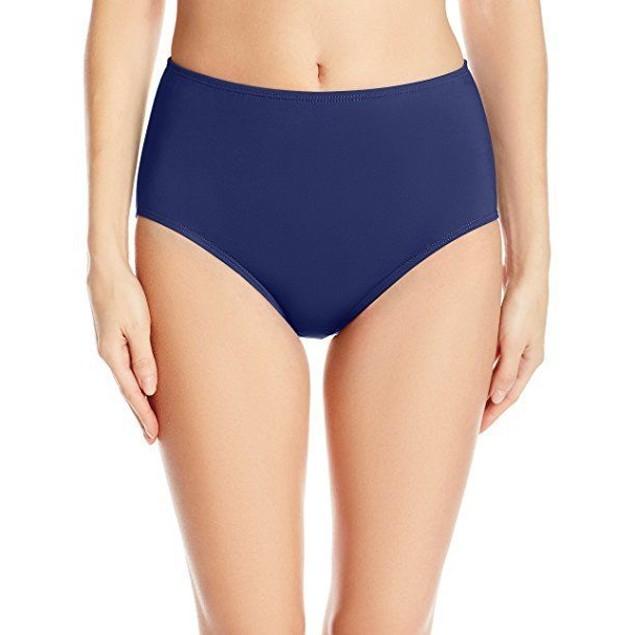 Jantzen Women's Solid Comfort Core Bikini Bottom, Nocturne Blue, SZ 16