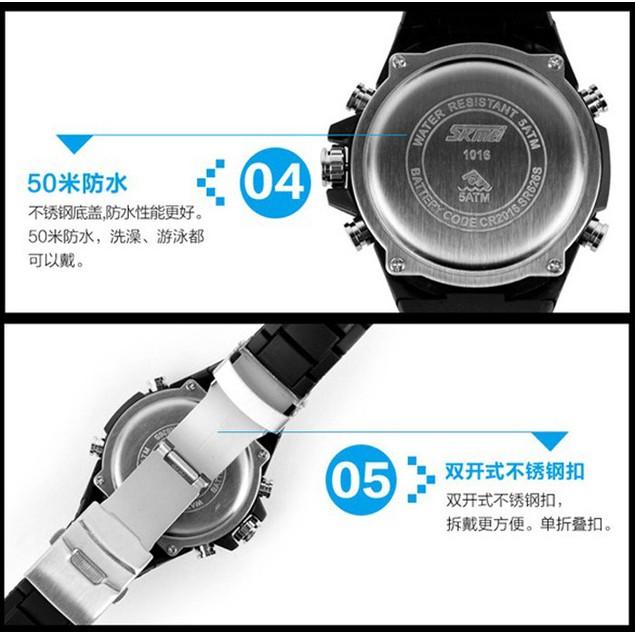 Male Dual Display Waterproof Multi Function LED Sports Watch