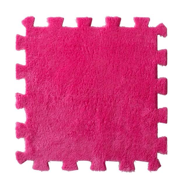 Living Room Bedroom Children Soft Patchwork Carpet Splice Baby Mat