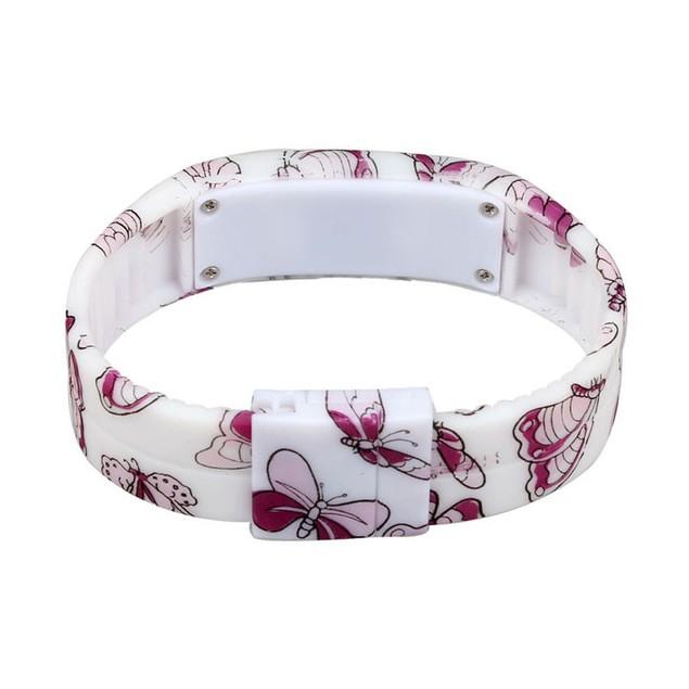 Ultra Thin Men Girl Sports Silicone Digital LED Bracelet Wrist Watch