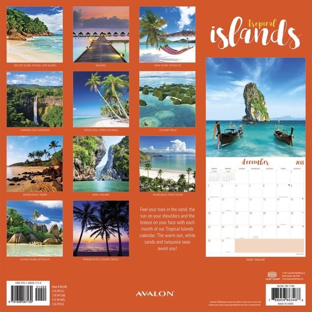 Islands Wall Calendar