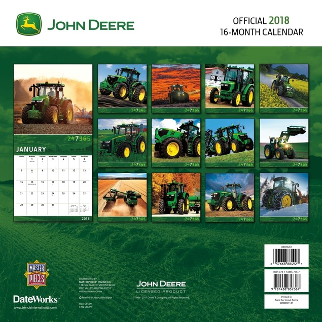 John Deere Wall Calendar, Tractors by Trends International