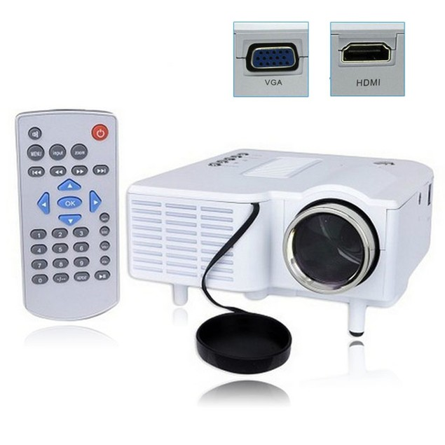 Multimedia LED Projector Home Cinema Theater Support AV VGA USB SD HDMI