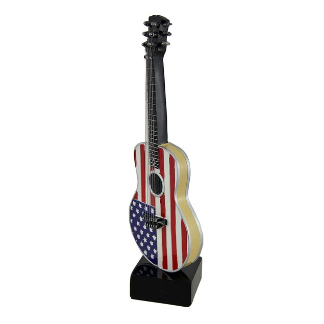 Rockin' Red White And Blue American Flag Acoustic Statues