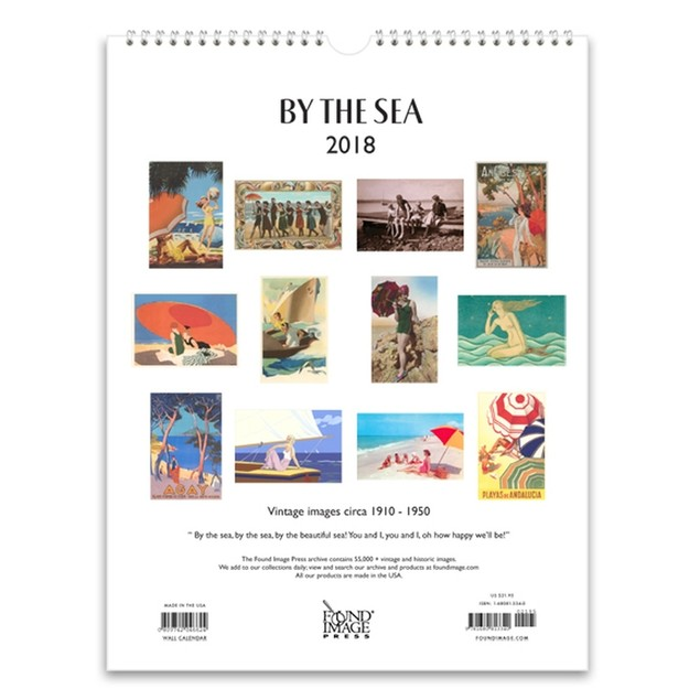 By the Sea Nostalgic Wall Calendar, Beaches by Found Image Press