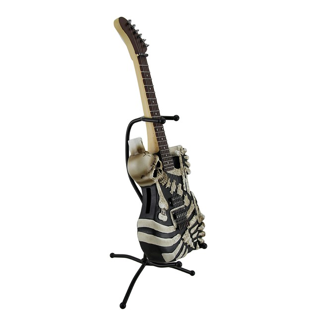 Soul Eater Electric Skeleton Guitar Statue Coin Toy Banks