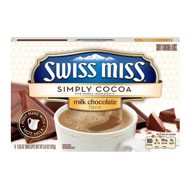 Swiss Miss Simply Cocoa Milk Chocolate Hot Cocoa Mix