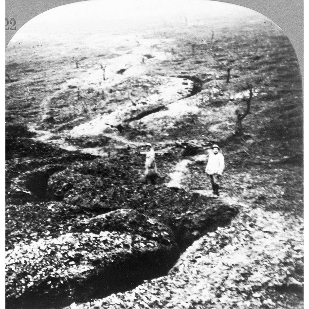 World War I: Trench. /Nsnakelike Trenches Winding Through Battlefields, Fro