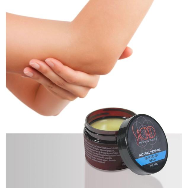 Sacred Mind & Body Natural Hemp Oil Pain Relief Balm 3 Ounce