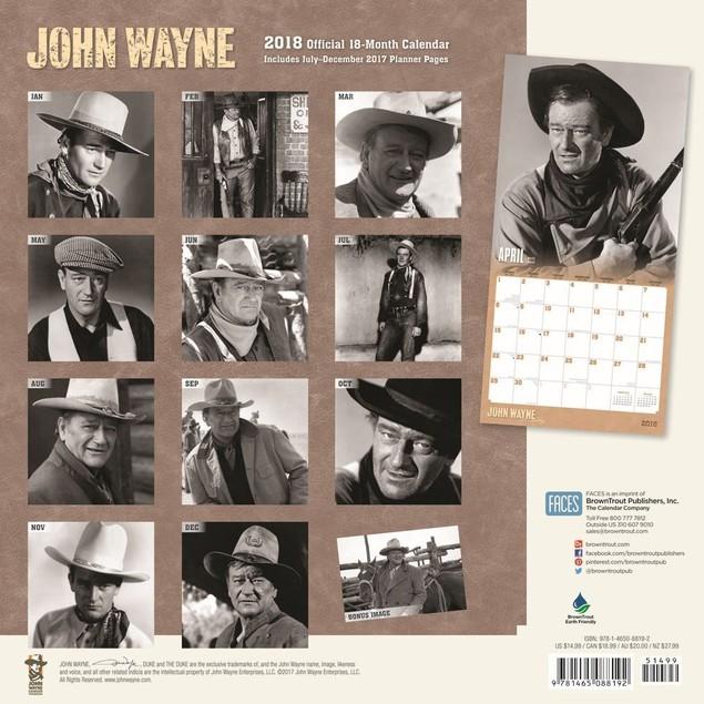 John Wayne Wall Calendar, Male Movie Stars by Calendars