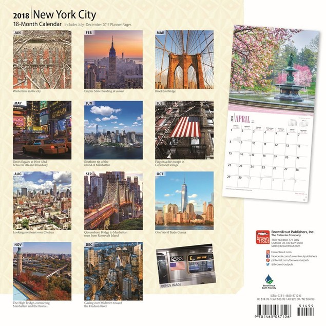 New York City Wall Calendar, New York City by Calendars