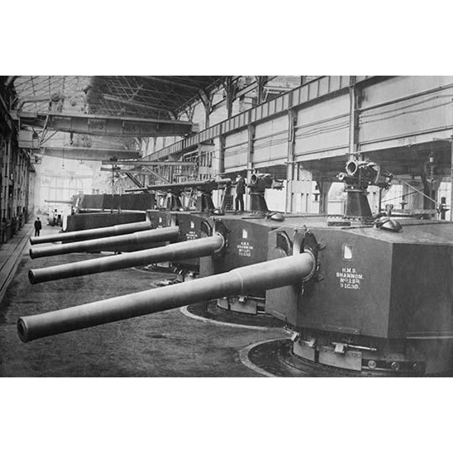 Vikers Works Naval Construction Manufactures Battleship guns and turrets Po