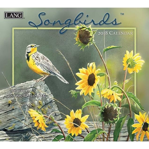Susan Bourdet Songbirds Wall Calendar, Lang Folk Art by Lang Companies