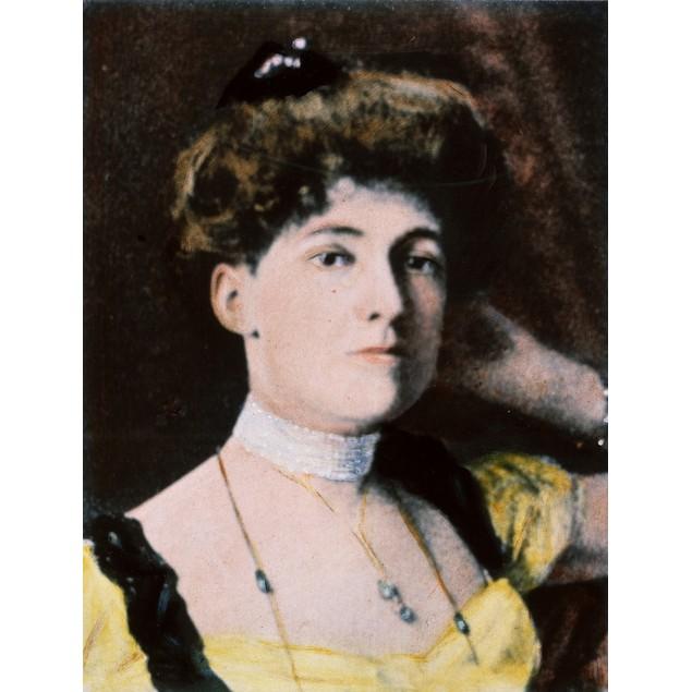 Edith Wharton (1862-1937). /Namerican Author. Oil Over A Photograph, C1900.