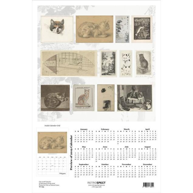 Art of Cats Poster Calendar, Cat Art by Retrospect Group