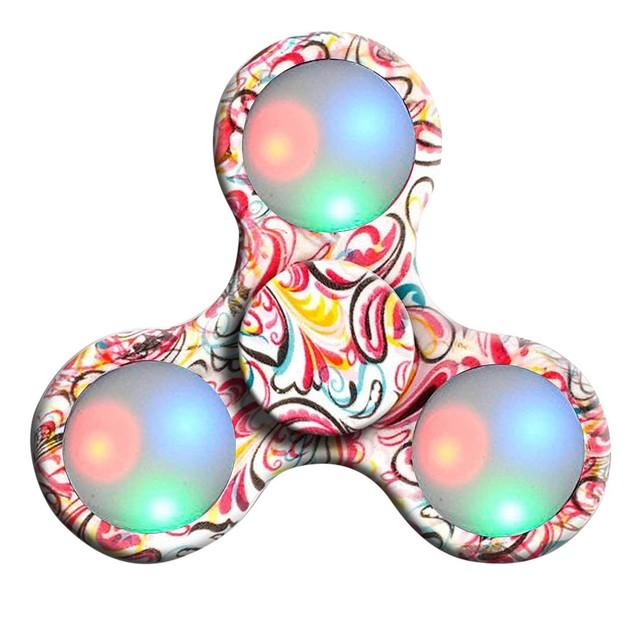 LED Light Hand Spinner Fidget Toys Finger Ball For Autism ADHD 2017
