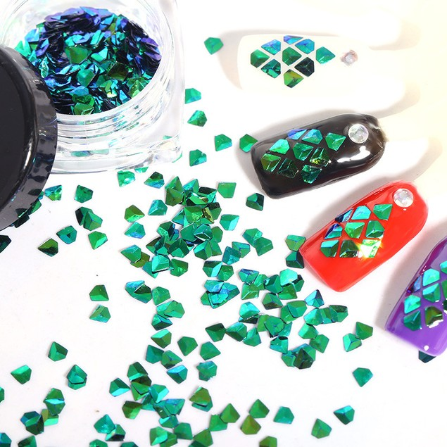 3D Acrylic Nail Art Tips Stud DIY Decoration Glitter Rhinestones Wheel