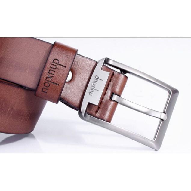 Men's Single-Prong Belt with Metal Buckle
