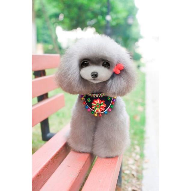 Puppy Pet Ethnic wind bells Triangular Bandage Scarfs Collar for Dog Cat
