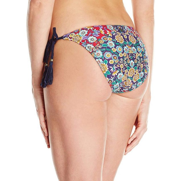 Nanette Lepore Women's Side Tie Hipster Bikini Swimsuit Bottom Sz M