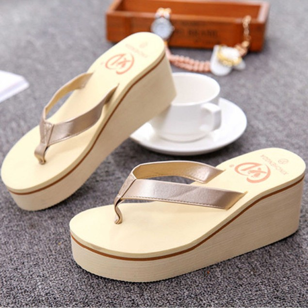 Sexy Flip Flops Women Sandals Bohemian Muffin Slope With Sandals
