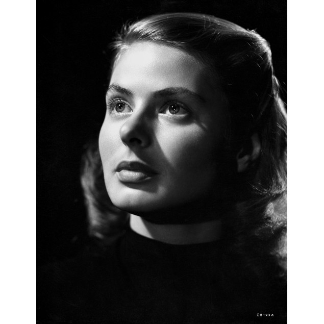 Ingrid Bergman Looking Up in Close Up Angle Poster