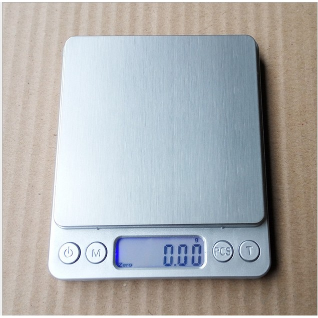 Digital Multifunction Food Kitchen Scale Silver Stainless Steel Silver