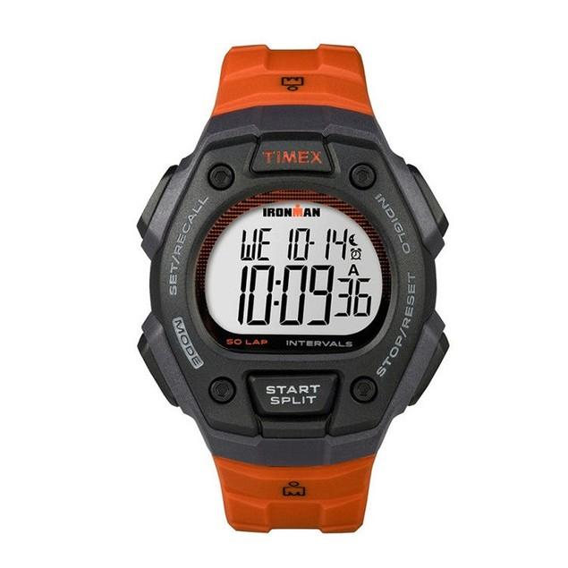 "Timex ""Ironman Clasic 50"" Black and Orange Digital Watch TW5K86200"