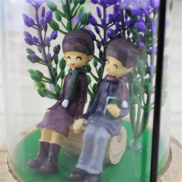 Creative Couple Micro Landscape Style Table Lamp