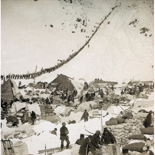 Gold Rush: The Klondike. /Nan Army Of Miners And Prospectors Ascending The