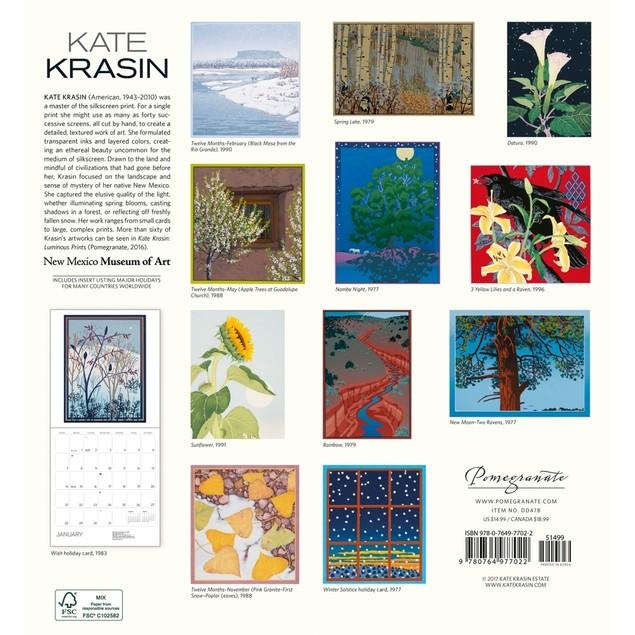 Kate Krasin Wall Calendar, Asian Art by Pomegranate