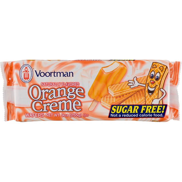 Voortman Orange Creme Sugar Free Wafers Cookies