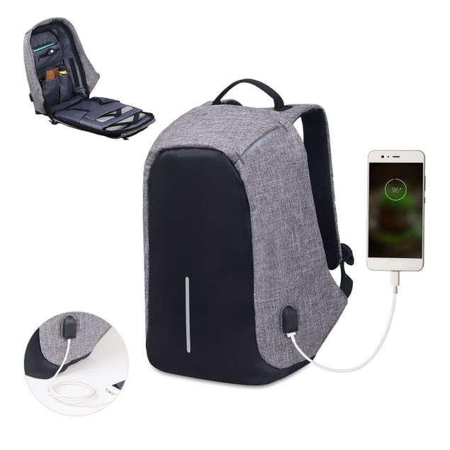 Anti-theft Laptop Notebook Backpack Bags with USB Charging Port Waterproof