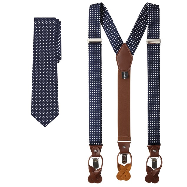 Jacob Alexander Matching Polka Dot Suspenders and Tie