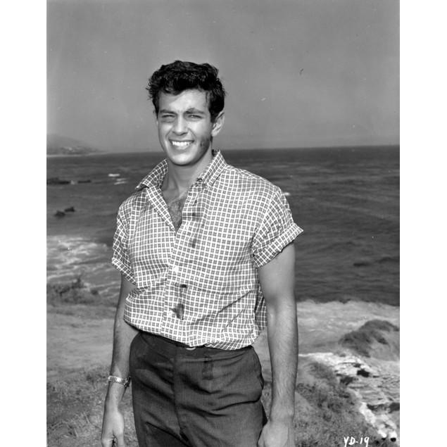A Mark Damon at the beach Poster