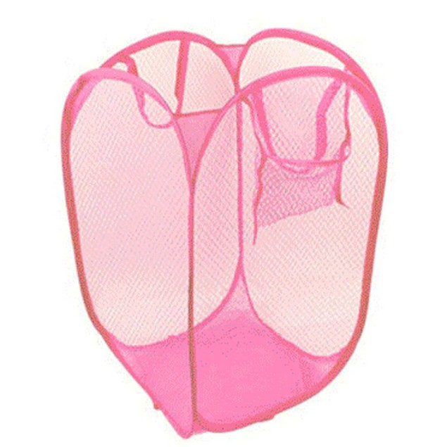 Foldable Pop-Up Laundry Hamper - Assorted Colors