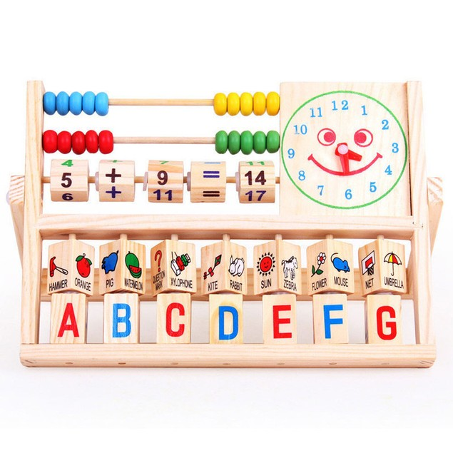 Kid's Learning Wooden Abacus Toy