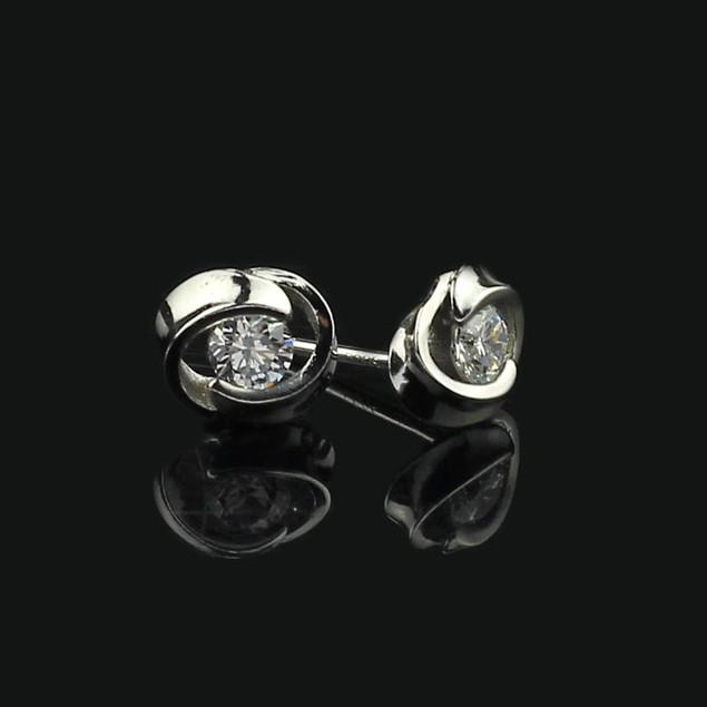Crystal Shiny Ear Stud Earrings for Women