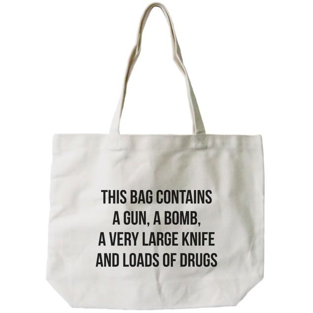 'Dangerous' Canvas Tote Bag